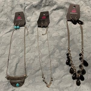 NWT 3 Paparazzi Necklace/Earrings Sets